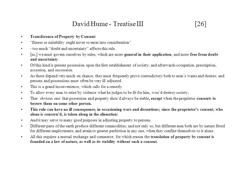 David Hume - Treatise III [26]